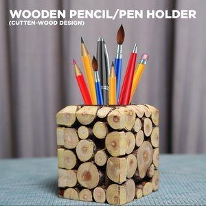 Wooden Handmade Trendy Pencil and Pen Holder